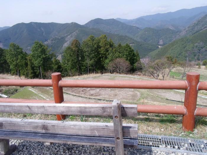 高原の休憩所からの眺め