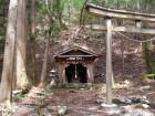 廃村に残る湯川王子社